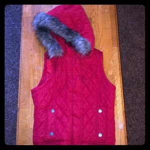 Size small red Maurice's vest